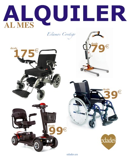 ALQUILER sillas ruedas